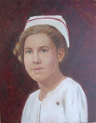 Poster featuring the painting The Nurse by Sharon Schultz