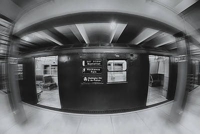 The Nyc Subway A Train Bw Poster