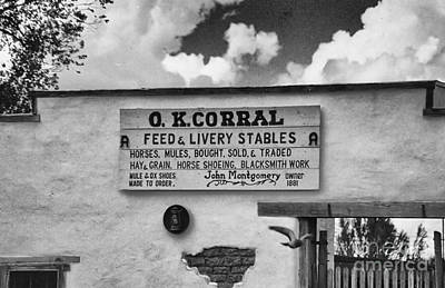 The O. K. Corral Poster by Anne Rodkin