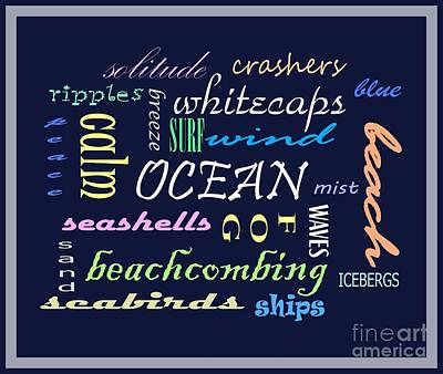 The Ocean Is... Poster by Barbara Griffin