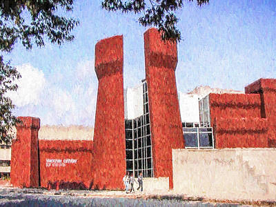 Poster featuring the painting The Ohio State University Wexner Center by Ike Krieger