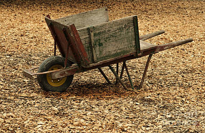 The Old Barn Wagon Poster