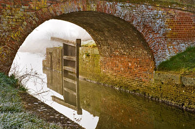The Old Bridge And Lock Gates Poster by Trevor Chriss