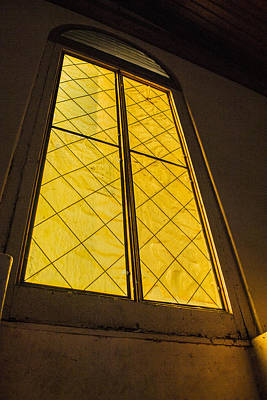 Poster featuring the photograph The Old Church Window  by Naomi Burgess