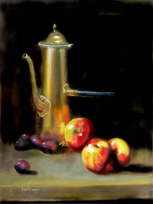 Poster featuring the painting The Old Coffee Pot by Barry Williamson