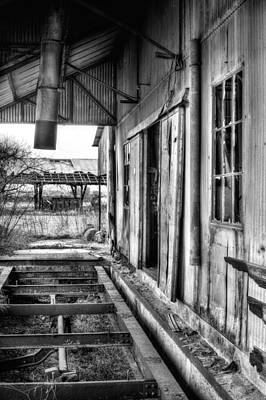 The Old Cotton Gin Bw Poster by JC Findley