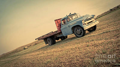 The Old Farm Truck Poster