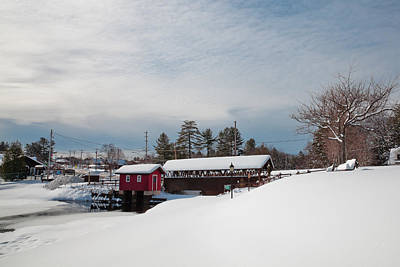The Old Forge Covered Bridge Poster by David Patterson
