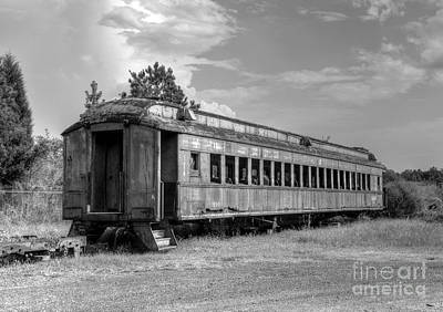 Poster featuring the photograph The Old Forgotten Train by Kathy Baccari