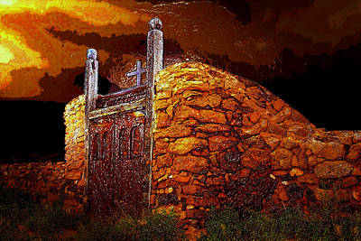 The Old Gates Of Galisteo Poster by David Lee Thompson
