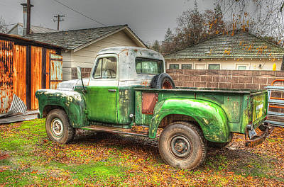 Poster featuring the photograph The Old Green Truck by Jim Thompson