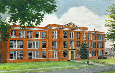 The Old High School Poster by Arthur Barnes