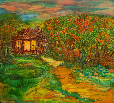 Poster featuring the painting The Old Homestead by Susan D Moody