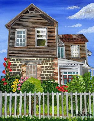 Poster featuring the painting The Old House by Laura Forde