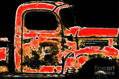 The Old Jalopy 7d22382 Poster by Wingsdomain Art and Photography