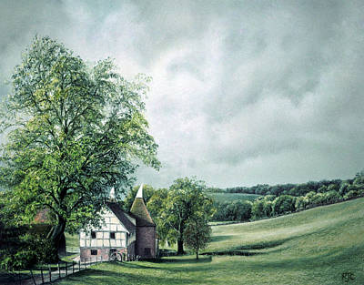 Poster featuring the painting The Old Lime Tree by Rosemary Colyer