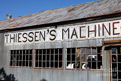 The Old Machine And Welding Shop Pleasanton California 5d23982 Poster by Wingsdomain Art and Photography