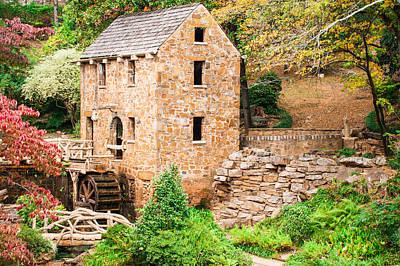The Old Mill - Pugh's Mill In Little Rock Arkansas Poster by Gregory Ballos