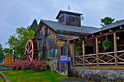 The Old Mill Restaurant - Old Forge New York Poster by David Patterson
