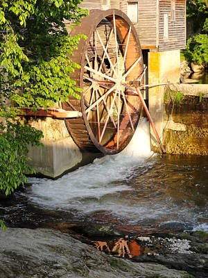 The Old Mill Water Wheel Pigeon Forge Tennessee Poster