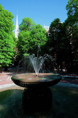 The Old North Church And Fountain Poster