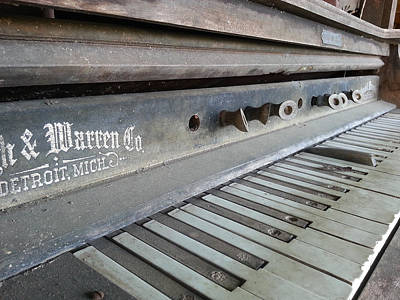 Poster featuring the photograph The Old Piano by Keith Hawley