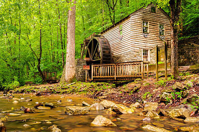 The Old Rice Mill In Tennessee Poster