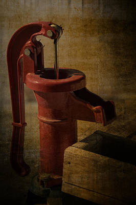 The Old Water Pump Poster by Lena Wilhite