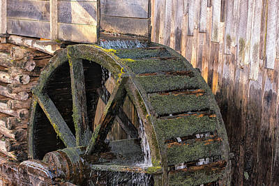 The Old Waterwheel Poster