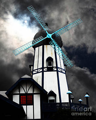 The Old Windmill 5d24398 Poster by Wingsdomain Art and Photography