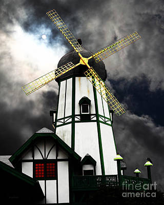 The Old Windmill 5d24398m180 Poster by Wingsdomain Art and Photography