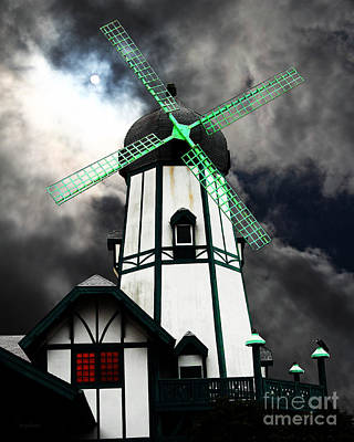 The Old Windmill 5d24398m80 Poster by Wingsdomain Art and Photography