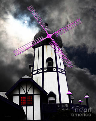 The Old Windmill 5d24398p118 Poster by Wingsdomain Art and Photography