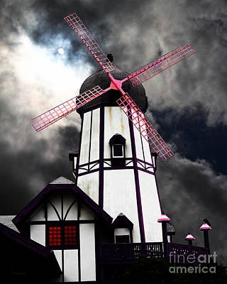 The Old Windmill 5d24398p180 Poster by Wingsdomain Art and Photography
