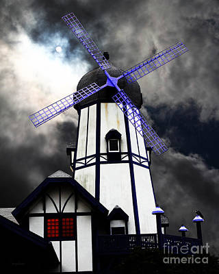 The Old Windmill 5d24398p50 Poster by Wingsdomain Art and Photography