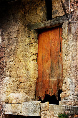 Poster featuring the photograph The Old Wooden Door by Jacqi Elmslie