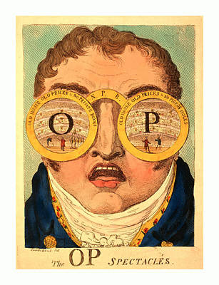 The Op Spectacles, Cruikshank, George, 1792-1878 Poster by English School