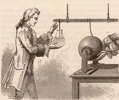 The Origin Of The Leyden Jar Poster