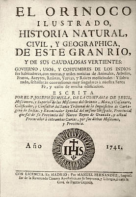 'the Orinoco Illustrated' (1741) Poster by Library Of Congress