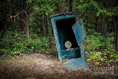 The Outhouse Near Mammoth Cave Kentucky Poster by Jim Swallow