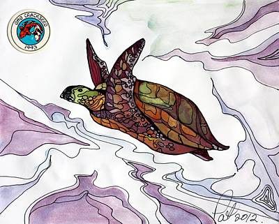 The Painted Turtle Poster by Pat Purdy