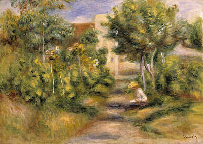 The Painters Garden, Cagnes, C.1908 Poster by Pierre Auguste Renoir