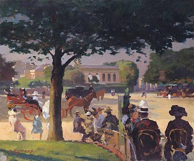 The Palais Rose, Paris Oil On Canvas Poster by Jules Ernest Renoux