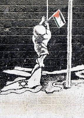 The Palestinian Flag Poster by Munir Alawi