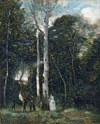 The Parc Des Lions At Port-marly Poster by Jean-Baptiste-Camille Corot