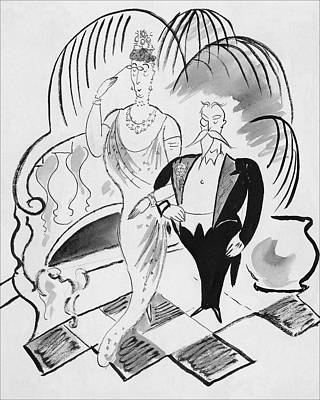 The Parents Of A Debutante At Her Coming Poster by Cecil Beaton