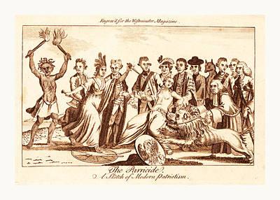 The Parricide A Sketch Of Modern Patriotism, En Sanguine Poster