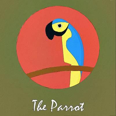 The Parrot Cute Portrait Poster by Florian Rodarte