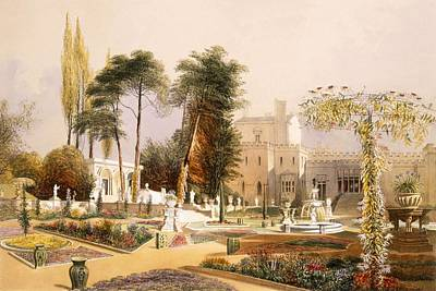 The Parterre In The Gardens At Wilton Poster