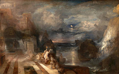 The Parting Of Hero And Leander Poster by Joseph Mallord William Turner